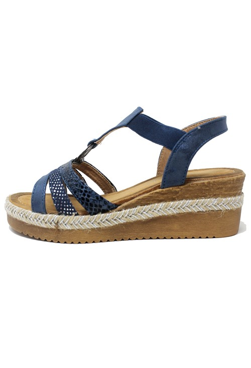 Shoe Lounge Blue Ring Sandal