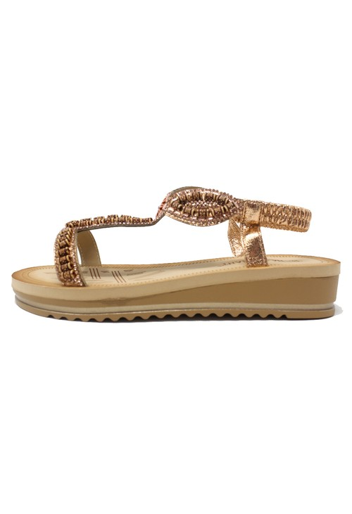 Shoe Lounge Rose Gold Wedge Sandal