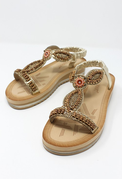 Shoe Lounge Gold Wedge Sandal