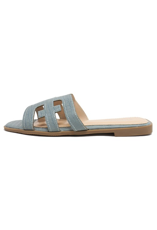 Shoe Lounge Light Blue Flat Slide