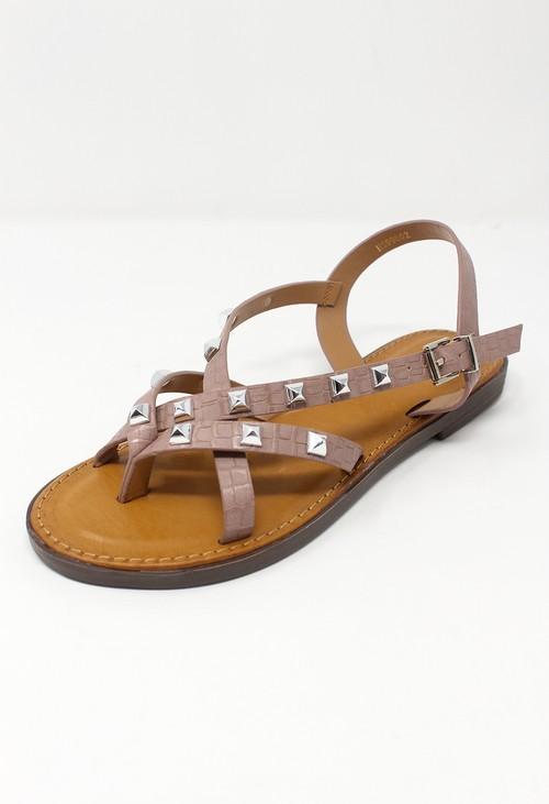 Shoe Lounge Pink Flat Strap Sandal