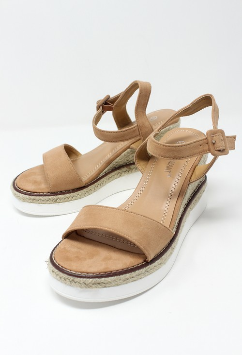 Shoe Lounge Pink Double Sole Wedge Sandal
