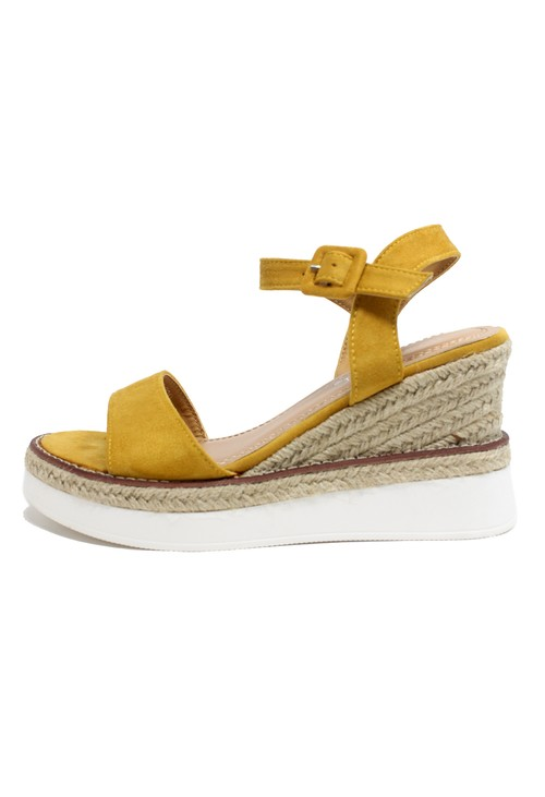 Shoe Lounge Yellow Double Sole Wedge Sandal