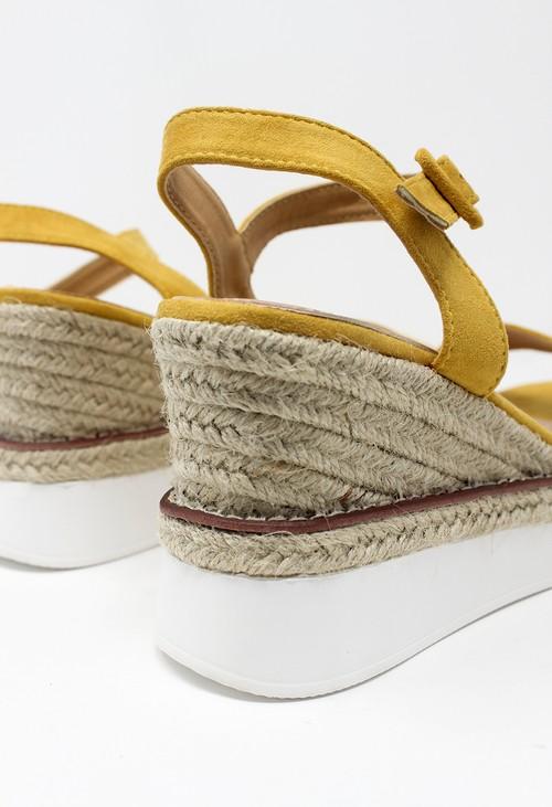 Shoe Lounge Yellow Double Sole Wedge Sandal