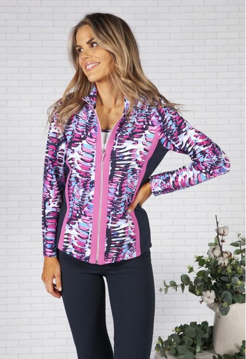 Pamela Femme Printed Colour Block Jacket