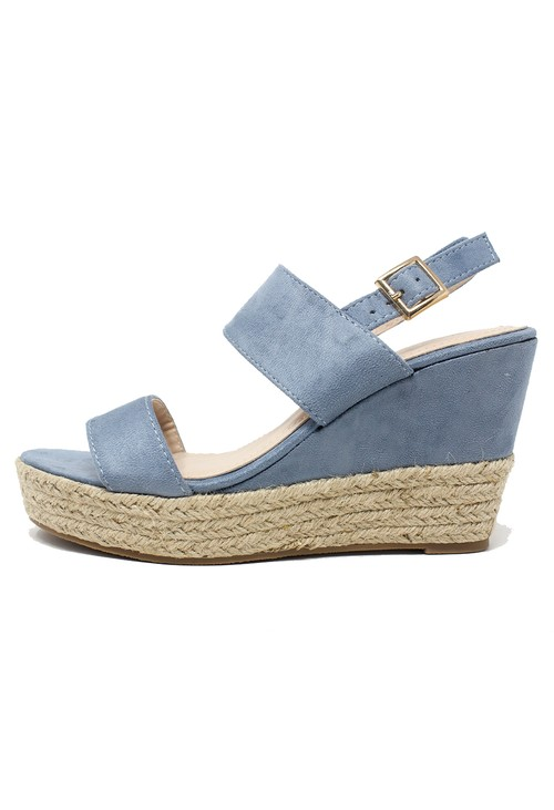 Shoe Lounge Blue Soft Toe Strap Sandal