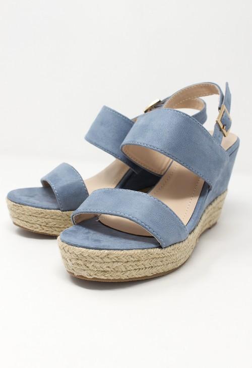 Shoe Lounge Blue Soft Toe Strap Sandal