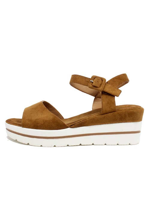 Shoe Lounge Tan Wedge Sandal
