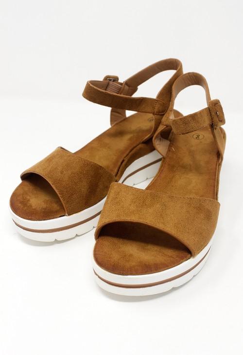 Shoe Lounge Tan Wedge Sandal