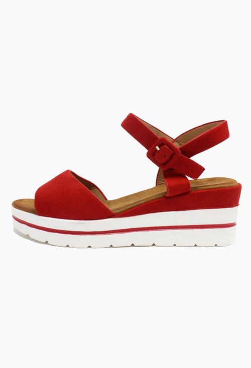 Shoe Lounge Red Wedge Sandal