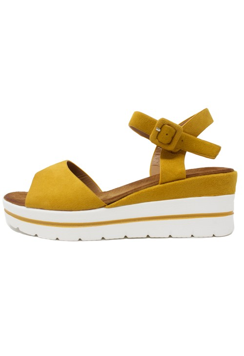 Shoe Lounge Mustard Wedge Sandal
