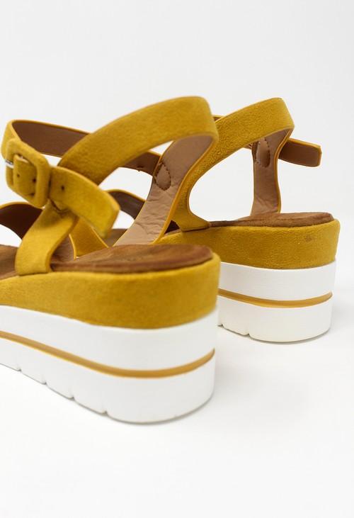 Shoe Lounge Mustard Wedge Sandal