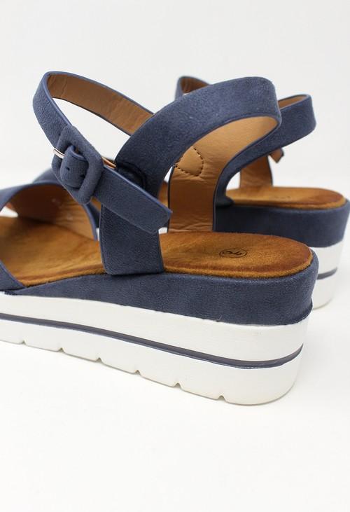 Shoe Lounge Blue Wedge Sandal