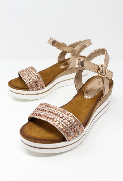 Shoe Lounge Rose Gold Wedge Sandal