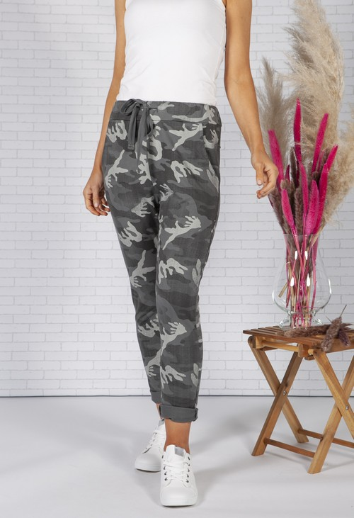 Zapara Mixed Dark Grey Camo Joggers