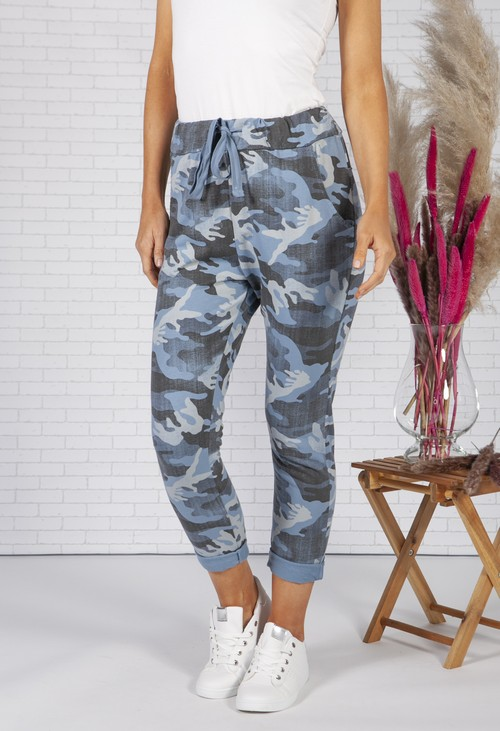 Zapara Mixed Blue Camo Joggers
