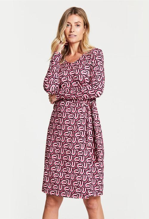 Gerry Weber Retro Print Dress Pink
