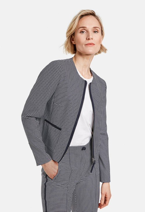 Gerry Weber Blazer with a checked pattern