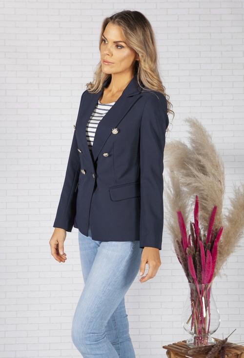 Pamela Scott Classic Navy Double Breasted Blazer