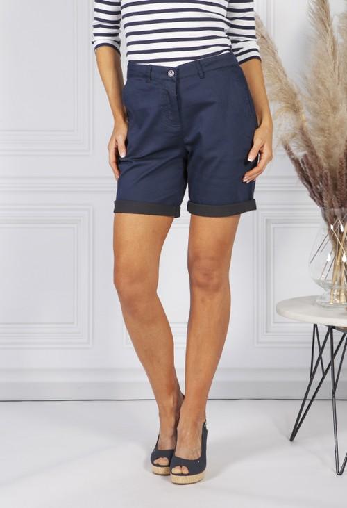 Sophie B Navy Comfort Stretch Shorts