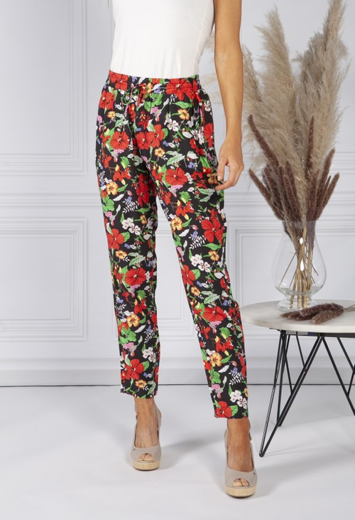 Sophie B Hawaiian Floral Print Trousers