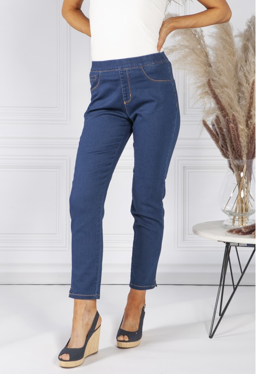 Twist Deep Denim Pull Up Jeans