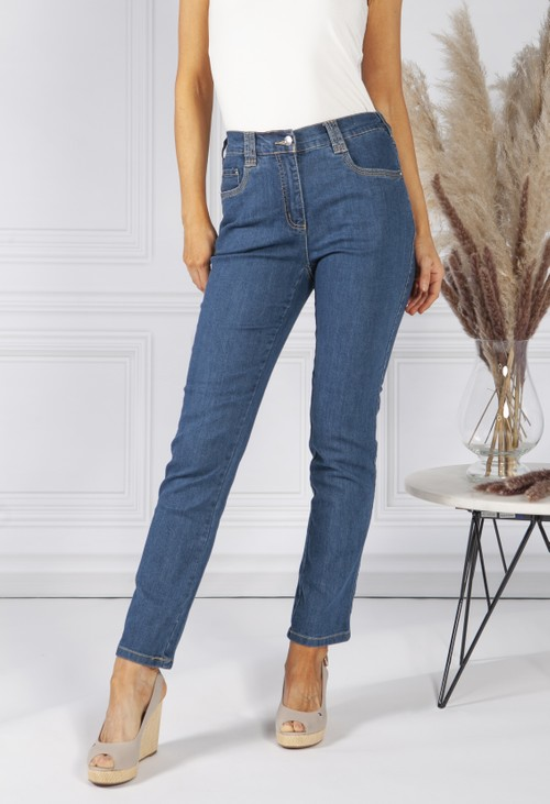 Twist Mid Denim 5 Detailed Pocket Jeans