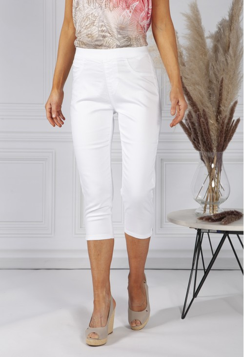 Twist White Pull on Jeans