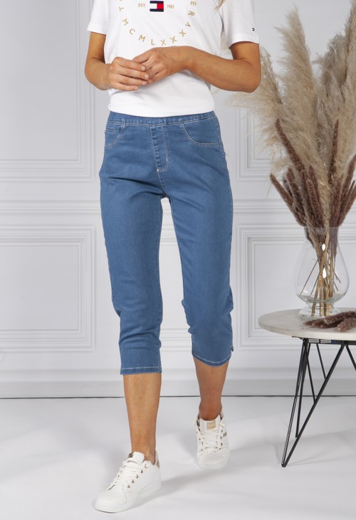 Twist Blue Denim Pull on Jeans
