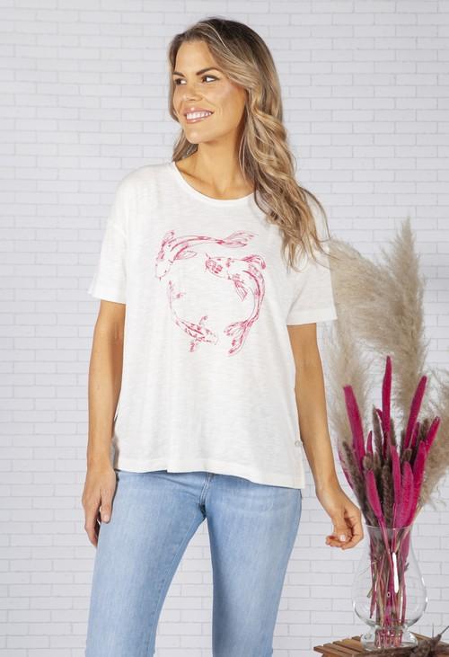Smith & Soul Koi Print T-Shirt