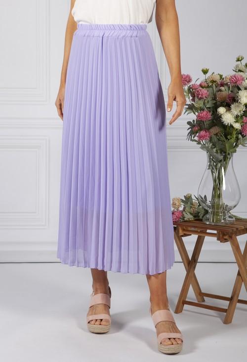 Zapara Lilac Pleated Skirt