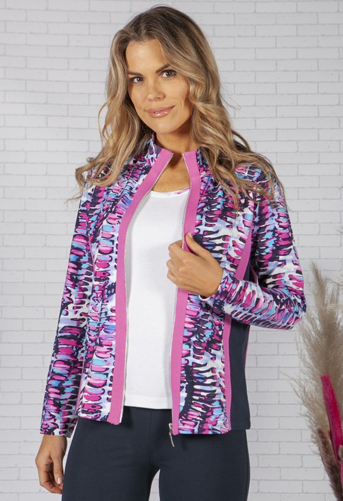 Pamela Femme Printed Colour Block Jacket
