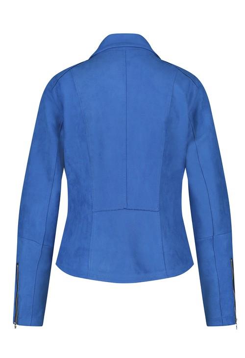 Gerry Weber Blue Suede Feel Zip Blazer