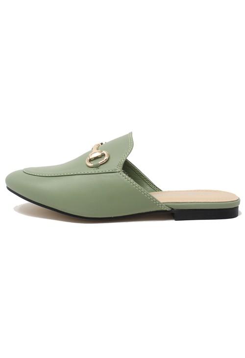 Shoe Lounge Light Green Apron Front Slide