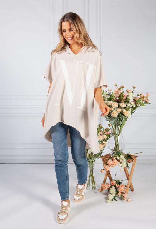 Pamela Scott Sand Over-sized 'nice' Jumper