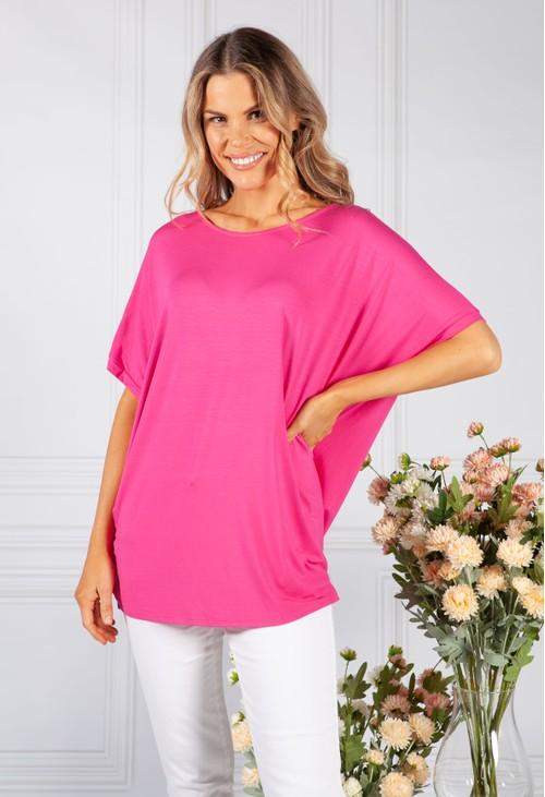 Pamela Scott Fuchsia Easy Fit T-Shirt