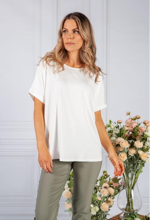 Pamela Scott White Easy Fit T-Shirt