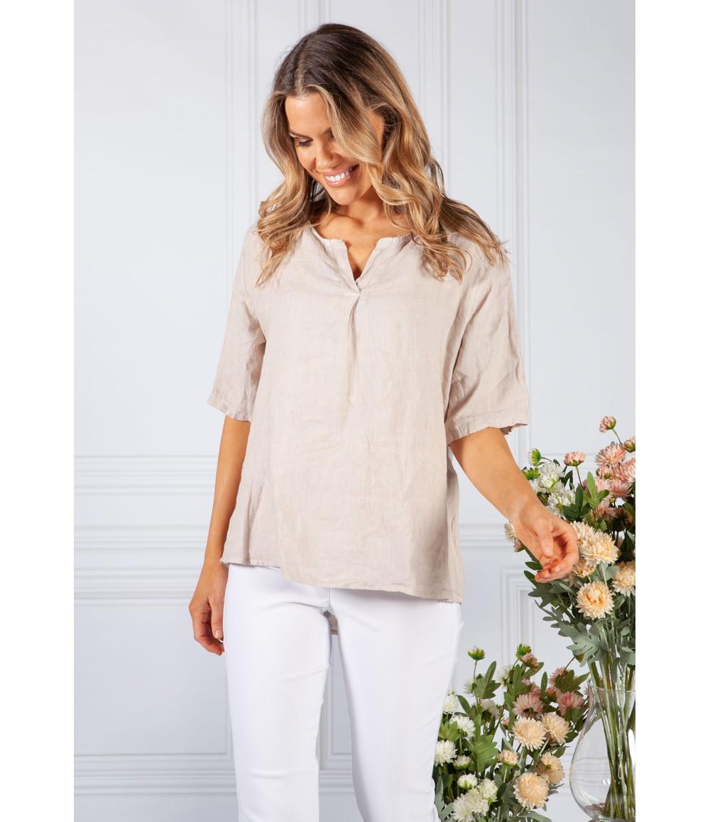 Pamela Scott Sand Linen Shirt