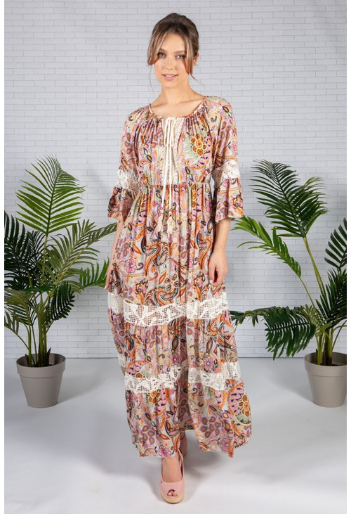 Pamela Scott Boho Style Maxi Dress