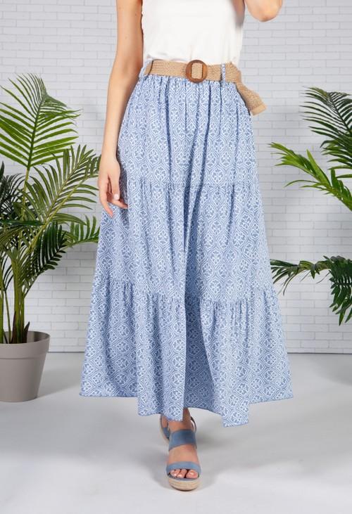 Pamela Scott Sky Blue Vintage Pint Skirt