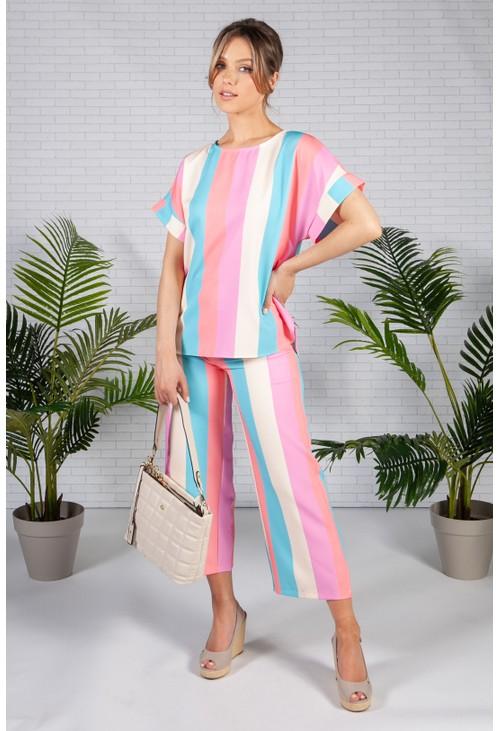 Pamela Scott Soft Summer Stripe Top
