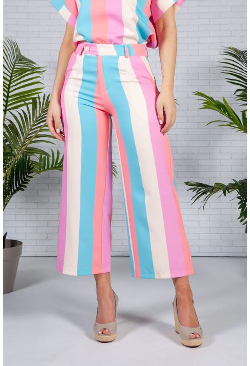 Pamela Scott Soft Summer Stripe Trousers