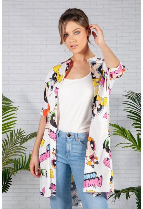 Pamela Scott White Power Puff Girls Shirt