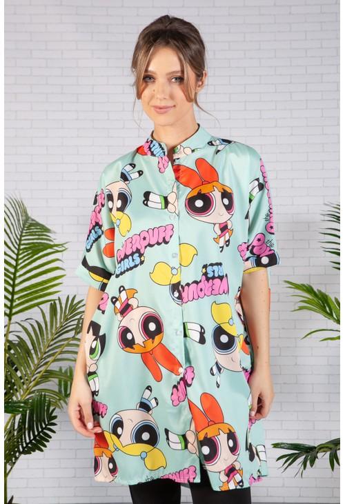 Pamela Scott Mint Power Puff Girls Shirt