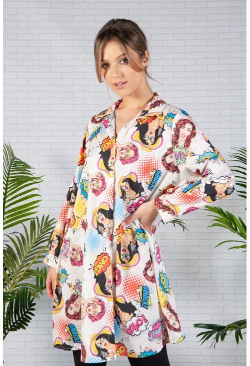 Pamela Scott Peach Pop Art Shirt