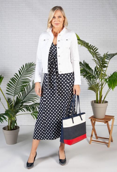 Pamela Scott Classic White Denim Jacket