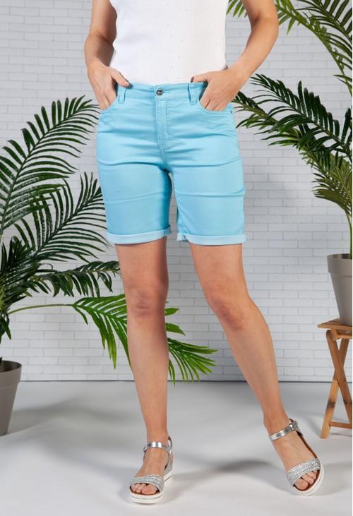 Twist Turquoise 5 Pocket Shorts