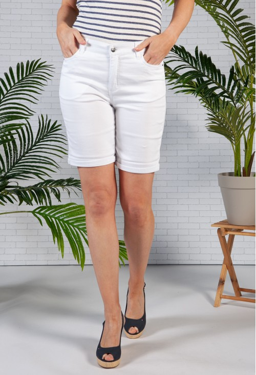 Sophie B White Comfort Stretch Shorts