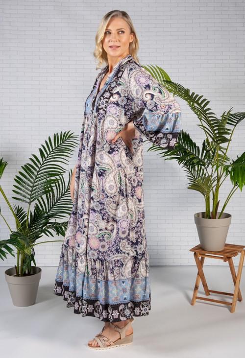 Pamela Scott Night Sky Moroccan Print Dress