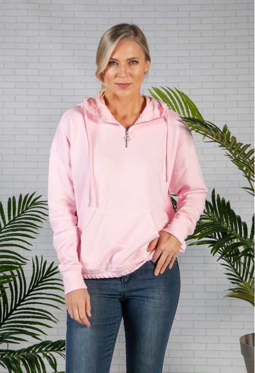 Smith & Soul Rose Pink Relaxed Fit Logo Hoodie